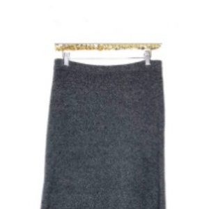 J. Jill Skirts - JJill Wool Sharkbite Hem Boucle Grey Skirt Merino